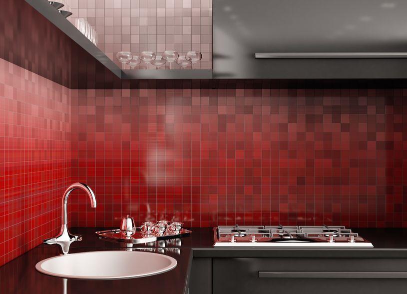 Küchenspiegel aus Glasmosaik